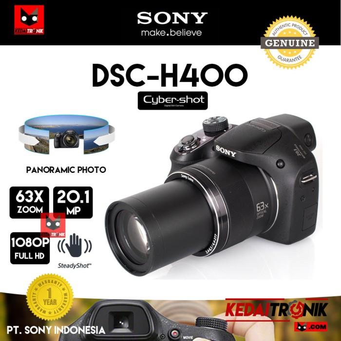 harga Camera sony cybershot dsc-h400 kamera pocket dslr 63x zoom digital ori Tokopedia.com