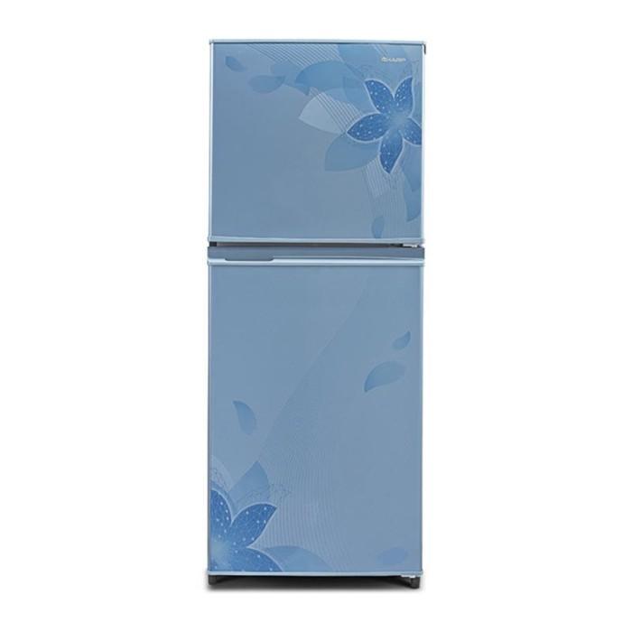 harga Sharp kulkas 2 pintu - sj-236nd-fb - blue rak kaca murah Tokopedia.com