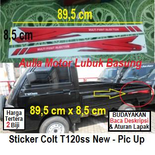 harga Sticker list body mitsubishi colt t120ss new pick up (set=2 buah) Tokopedia.com