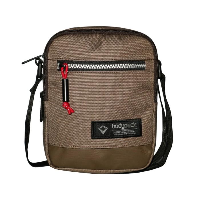 Tas selempang bodypack travel pouch prosper - brown