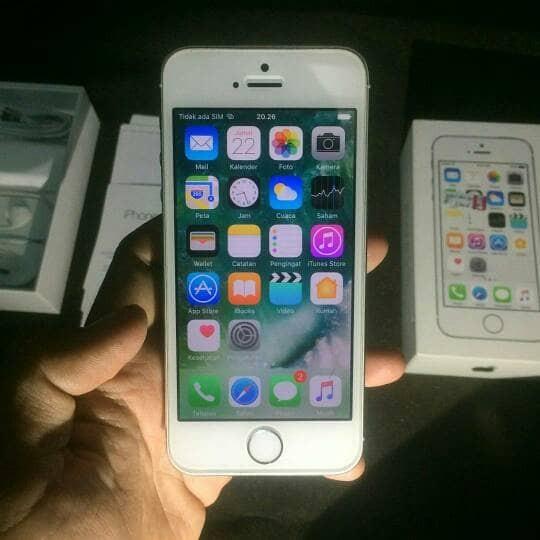Jual Iphone 5s 16GB Second Resmi Ibox Fullset Original - Grey ... 43fac75b34