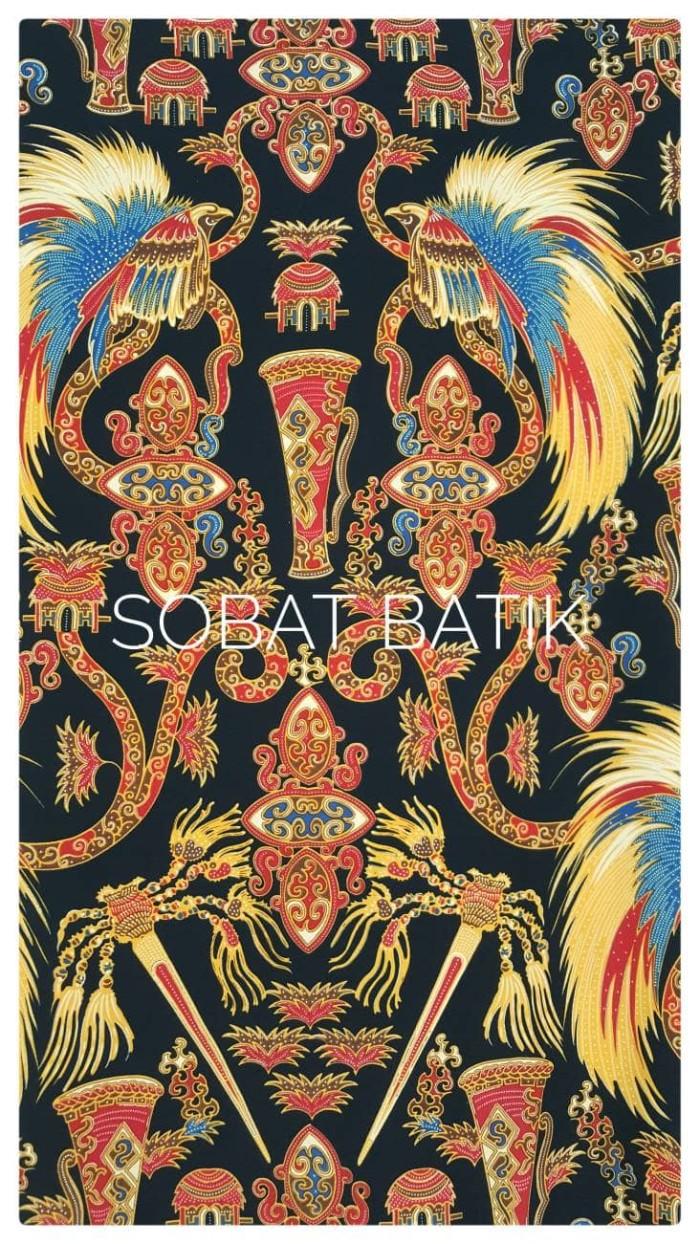 harga Kain batik semi sutra motif papua 51110 hitam Tokopedia.com