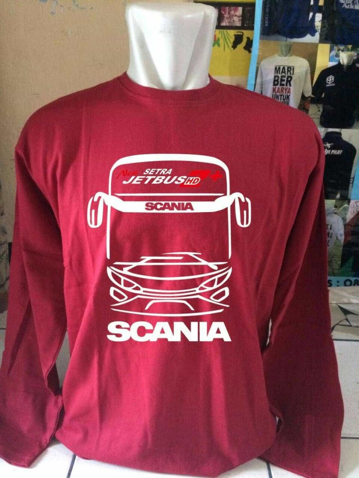 harga Kaos baju t shirt lengan panjang scania jet bis Tokopedia.com