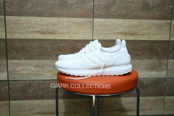 Jual Sepatu Adidas Ultra Boost Full White Putih Pria Wanita Laki