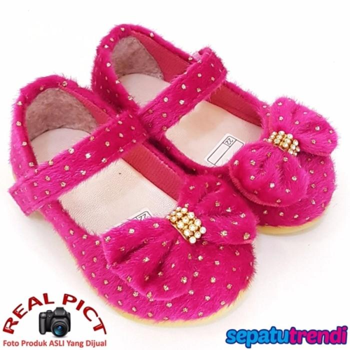 ... Sale TrendiShoes Sepatu Anak Bayi Perempuan Pita Bulu AT02DP