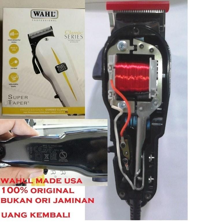 ... harga Alat cukur rambut wahl corded clipper super taper classic series  usa Tokopedia.com 4d7818d307