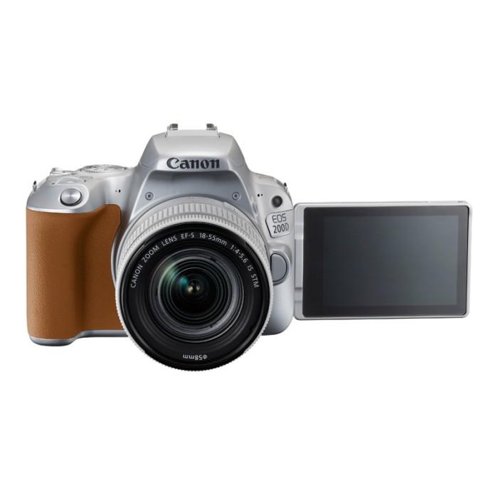 Jual Canon Digital Eos 200d With Lens 18-55mm Silver Harga Promo Terbaru
