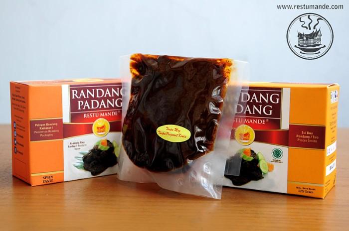 Foto Produk Rendang Sapi 125 gram - Rasa Original Padang - Restumande dari Rendang Padang Kemasan