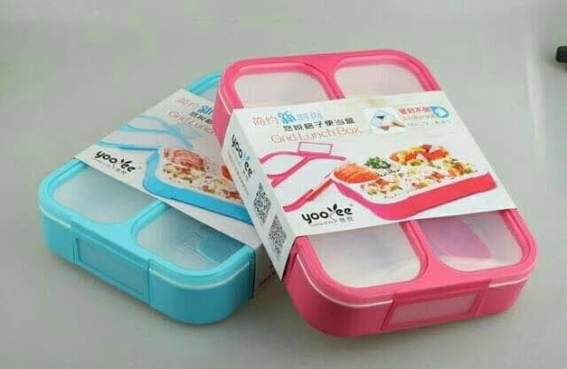 Lunch box yooyee/kotak makan bento yooyee 3 sekat