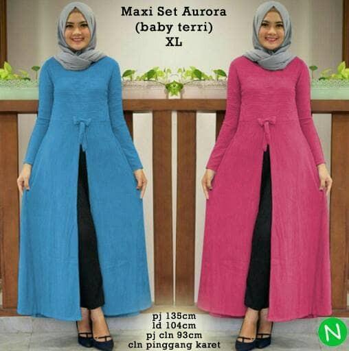 Foto Produk 7385 maxi set aurora/stelan muslim/stelan wanita muslim/baju grosir dari Glory Purple Shop