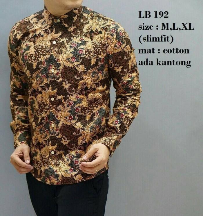 harga Kemeja batik pria slimfit modern lengan panjang ada saku depan lb 192 Tokopedia.com