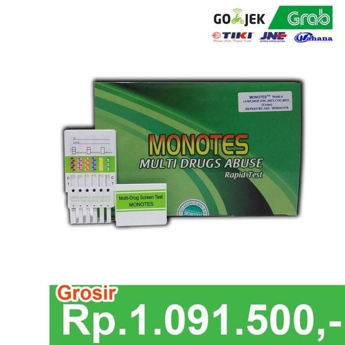 harga Rapid Test Monotes Multidrugs 6 ( Amp/mop/thc/met/coc/bzo), Urine Test Tokopedia.com