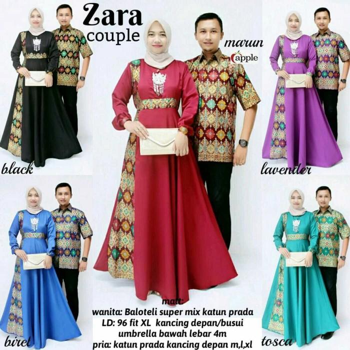 Baju Batik Modern Kebaya Couple Muslim Dress + kemeja Pria zara cp