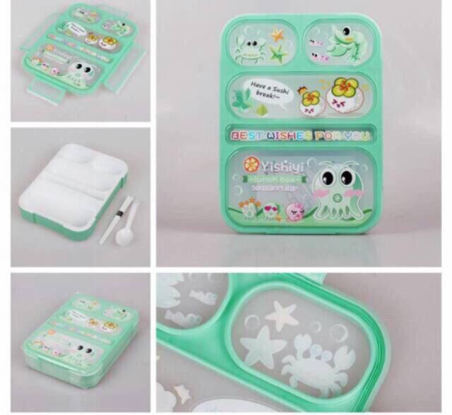 Lunch box yooyee 590 sekat 5 grid / kotak makan lunchbox bento set