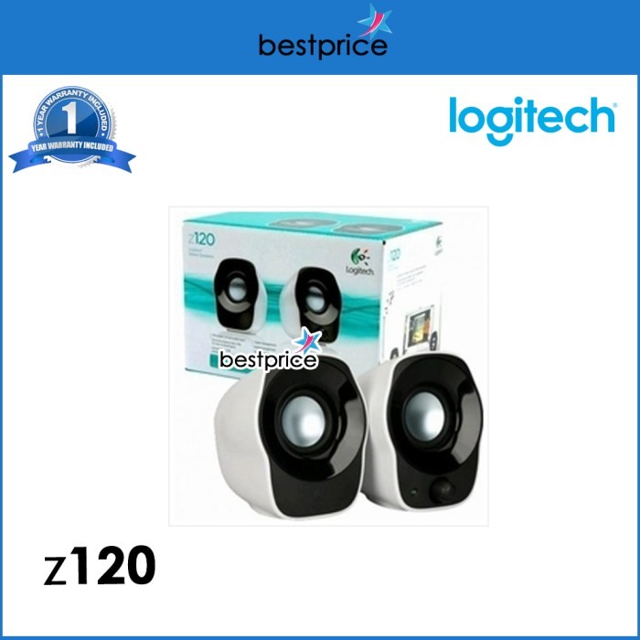 harga Resmi!! logitech z120 mini stereo speaker portable laptop/ pc usb Tokopedia.com