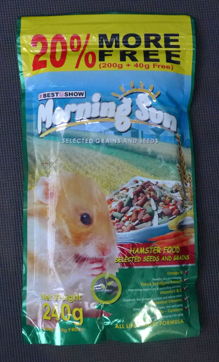 Makanan hamster - morning sun hamster food 240g