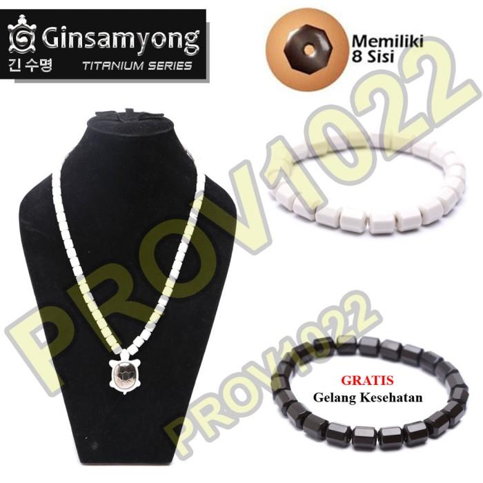 harga Ginsamyong titanium kura - putih - kalung gelang kesehatan white Tokopedia.com
