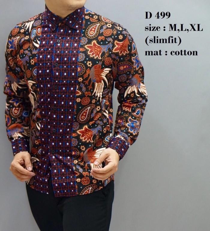 Jual Baju Batik Pria  Kemeja Batik Slim fit  Batik Lengan