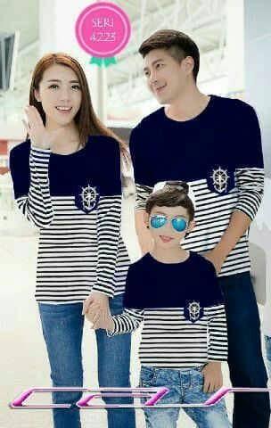 harga Baju couple family sailor navy lp   kaos pasangan keluarga anak murah Tokopedia.com