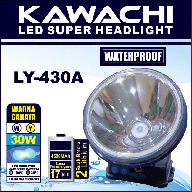 harga Senter kepala 30watt ly 430a kawachi (waterproof) tahan percikan air Tokopedia.com