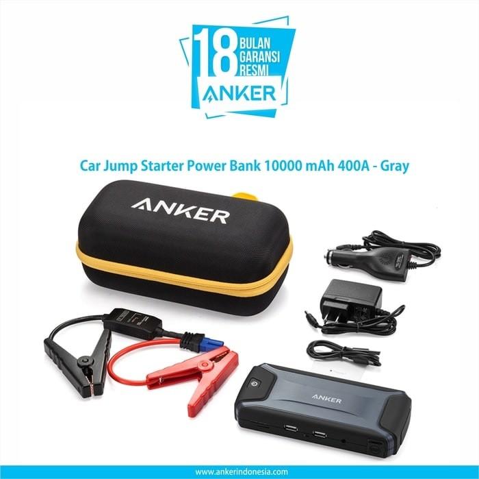Anker car jump starter powerbank 10000 mah 400a -a1501311- (resmi)