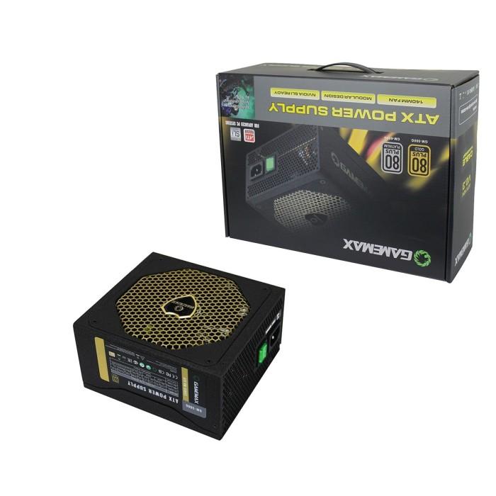 harga Gamemax psu gm 600g : 600watt 92+  efeciency 92%  gold 14cm fan Tokopedia.com