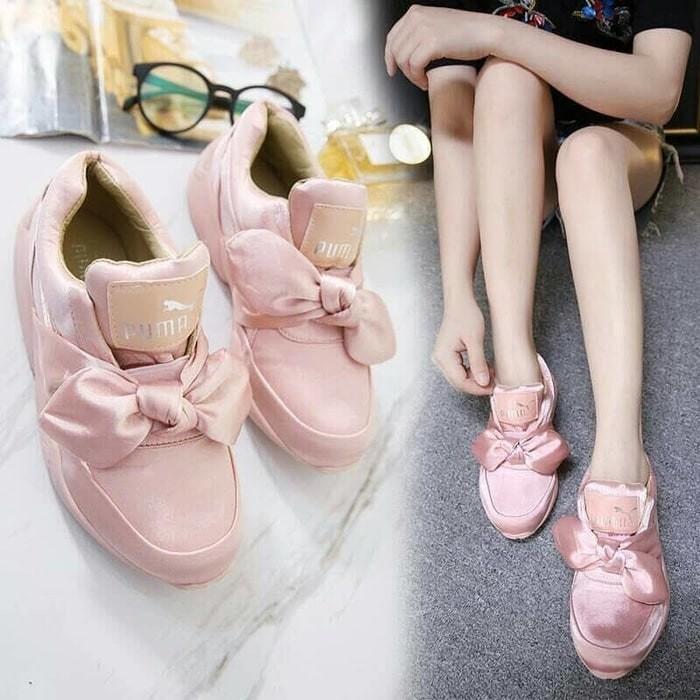 Jual Sepatu Sandal Wanita   Sepatu Kets Replika Puma Bow Salem ... 925e284eba