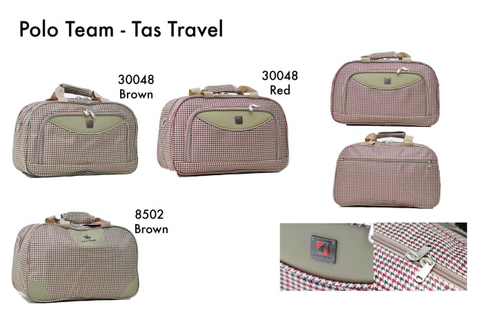 Polo Team Tas Travel 30048 - Cokelat Muda