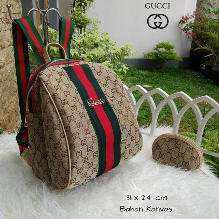 Jual Tas Wanita Ransel Gucci Keren Lagi Hits Hotlist Kanvas Backpack ... 4b35bd9f01