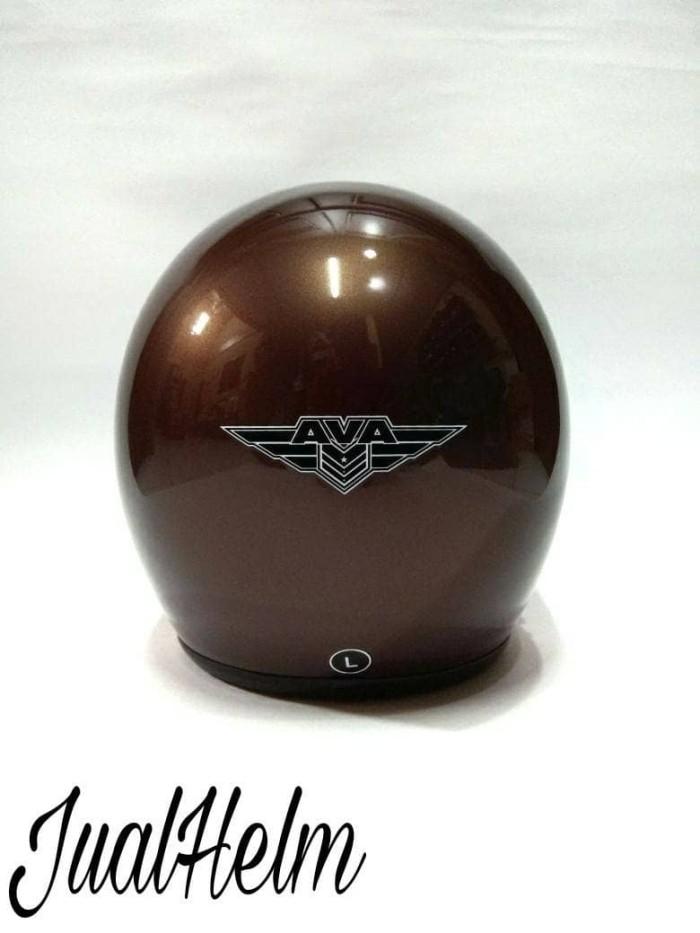 Helm Retro/Helm Classic/Helm Bogo/Helm Vespa Ava Brown Glossy 3
