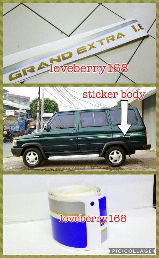 harga Sticker body kijang grand extra 1800cc tahun 1995-1996 warna biru Tokopedia.com