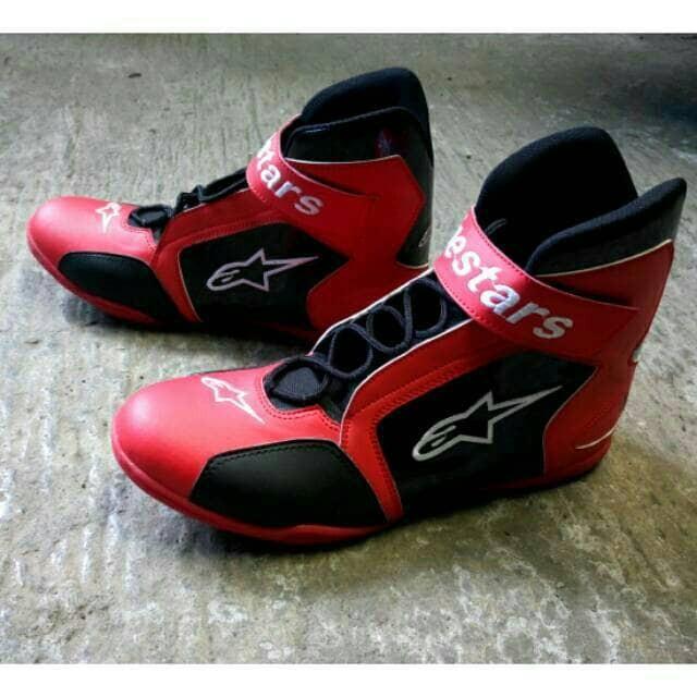 harga Sepatu drag alpinestar merah hitam k1 - sepatu touring  - sepatu balap Tokopedia.com