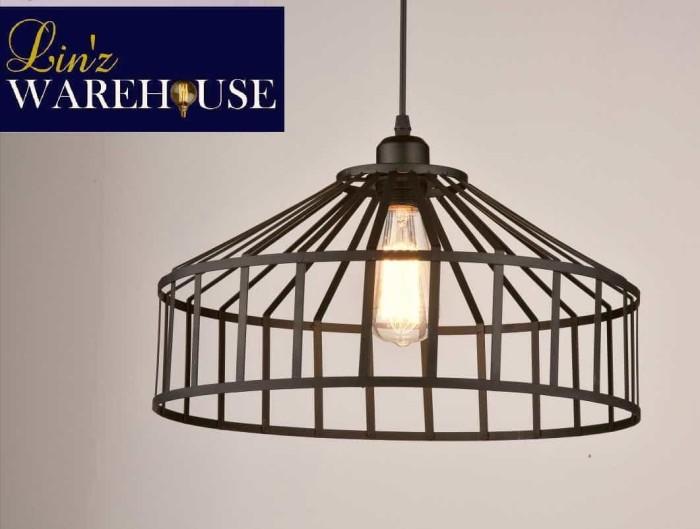 Lampu gantung iron cage retro industrial pendant lamp