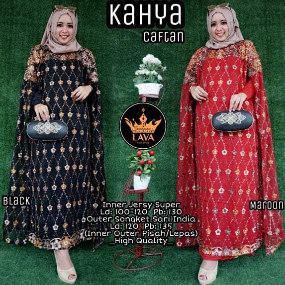 Jual Kahya Kaftan Kaftan Songket Sari India Gamis Mewah Dress