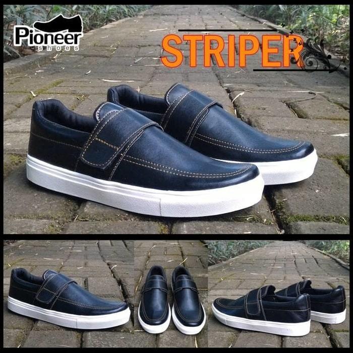 harga Striper black sneakers  / sepatu murah / best seller / sepatu santai Tokopedia.com