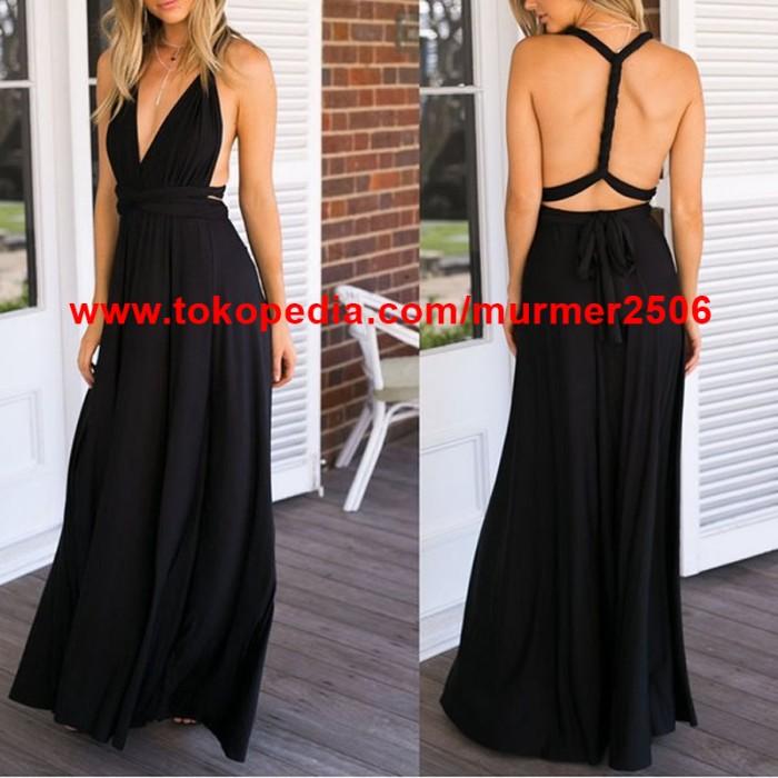 Foto Produk Infinity Convertible Maternity Bridesmaid Multiway MAXI Dress grosir dari murmer2506