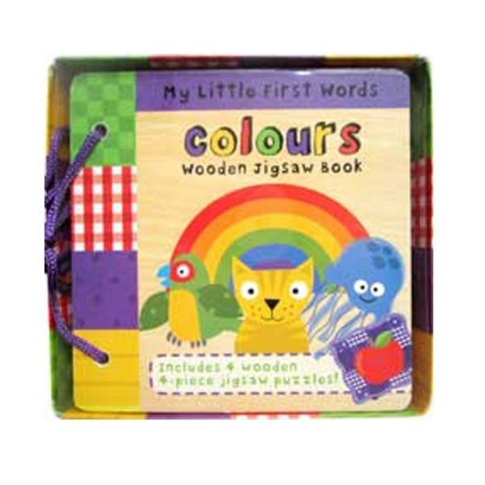 Foto Produk My Little First Words Colours Wooden Jigsaw Book dari Alice Baby Shop