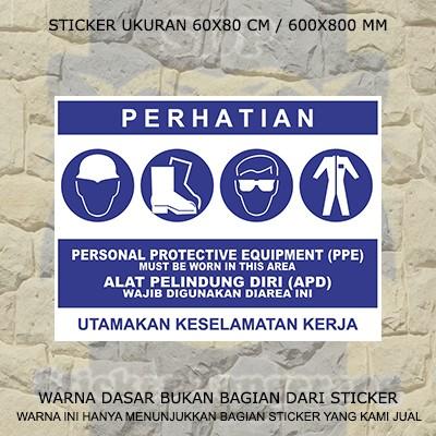 Jual Sticker K3 Alat Pelindung Diri Apd Kota Tangerang Sticker Tangerang Tokopedia