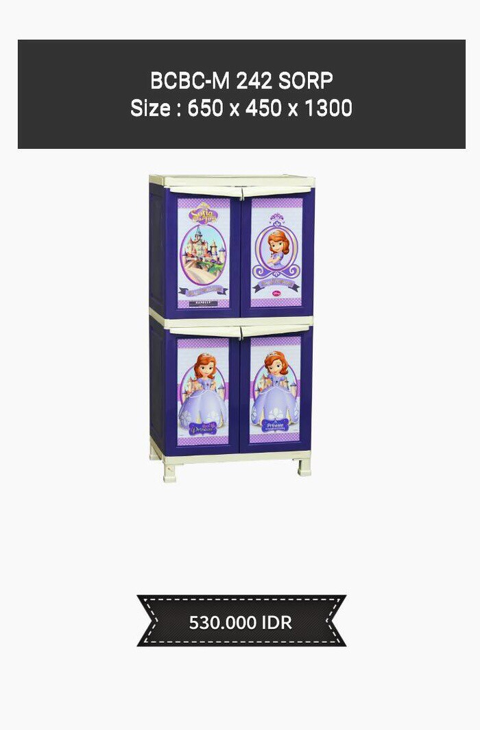 harga Lemari pakaian plastik napolly sophia ungu 4 pintu besar susun 4 Tokopedia.com
