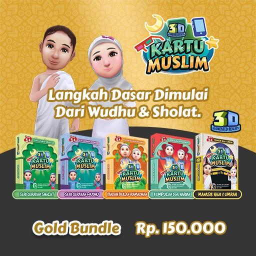Kartu Muslim Paket Gold Bundle
