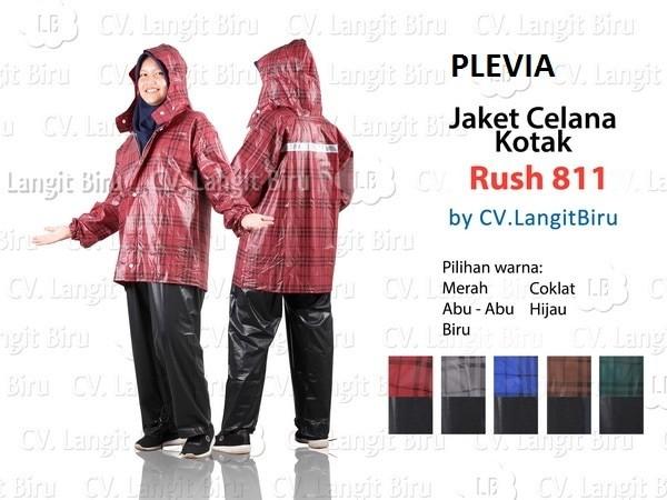 harga Jaket celana plevia rush 811 motif kotak kotak - mantel hujan rain jas Tokopedia.com