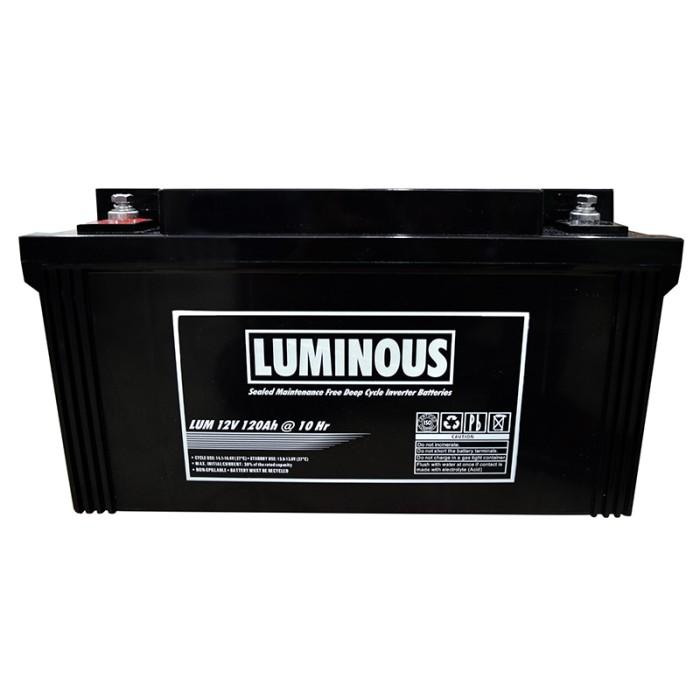 harga 120 ah 12 luminous vrla battery - aki kering luminous 120 ah 12v Tokopedia.com