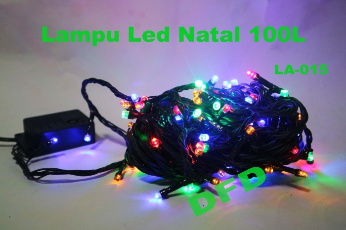 Lampu natal ( lampu led  100 l ) (kode : la - 015) kabel hijau