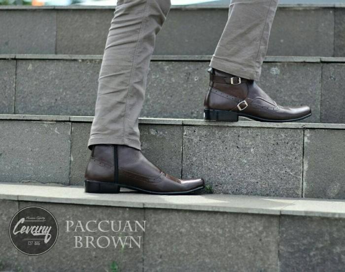 sepatu Boot formal Pria kantoran Pantofel PDH dari Cevany kulit jungle 577fd3c5db