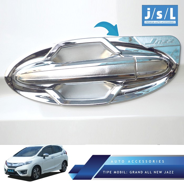 Foto Produk Grand All New Jazz Outer Handle Cover Sporty Chrome/Aksesoris Jazz dari Autotivo