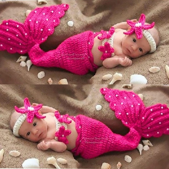 harga Kostum rajut mermaid bayi anak costum karakter instagenic putri duyung Tokopedia.com