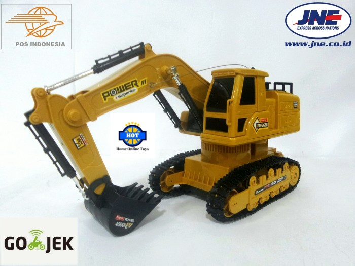 ... Mainan remote control rc excavator heavy machine digger
