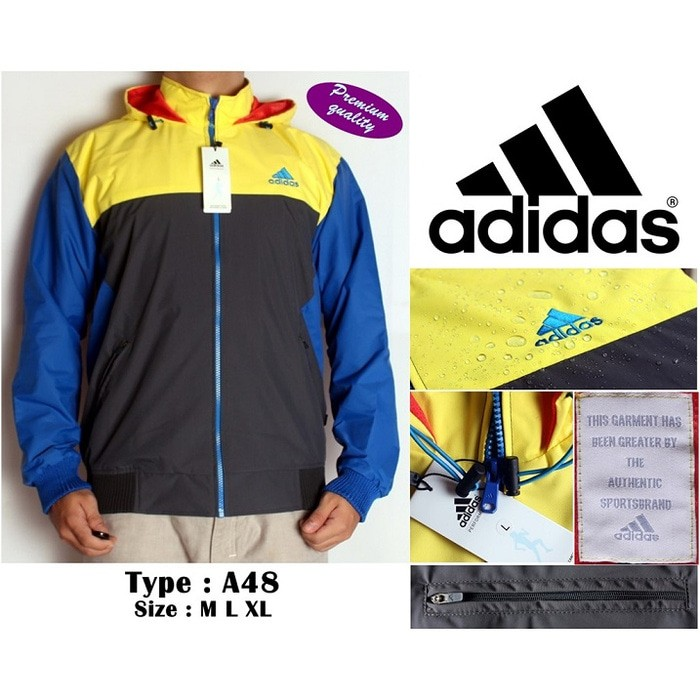 f27def14d Jual Jaket Adidas / Nike Waterproof & Windbreaker ( Type A48 Murah ...