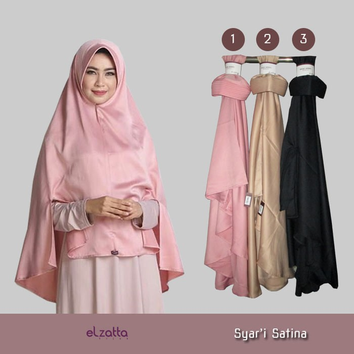 Jual Elzatta Syari Satina Jilbab Instan Syari Hijab Bergo Khimar Kota Bandung Kerudung Elzatta Tokopedia
