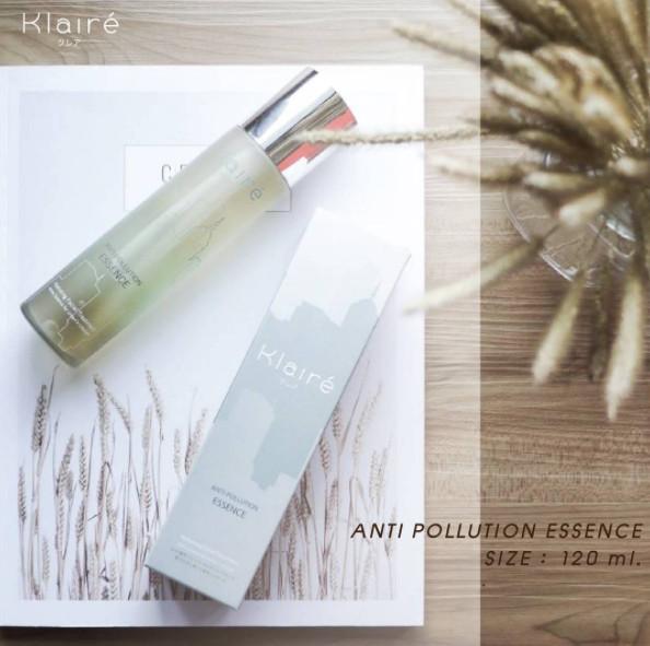 Klaire anti pollution essence 120ml/ spray wajah / sunblock/ essence